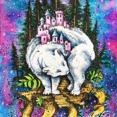 Ponownie Galaxy i niedźwiadek z Ticket to Dreams. @kubikowska.emilysmoose #karolinakubikowska #tickettodreams #tickettodreamscoloringbook #podrugiejstroniesnu #galaxybackground #kochamkolorować #kolorowankidladorosłych #kolorowankiantystresowe #kolorowamafia #coloringbook #coloringforadults #colouringbookforadults #derwent #derwentinktensepencils #inktense #inktensepencils #ecoline #whitenight #białenoce #galaxy #colouring