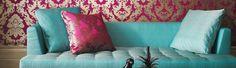 Très beaux coussins de luxe conçus par Matthew Willisamon et Osborne & Little http://www.papillondecoration.com/coussins-551-c.asp