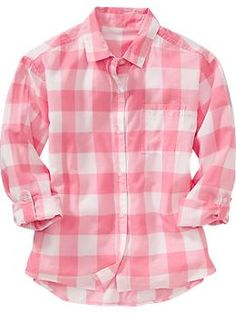 Girls Buffalo-Plaid Shirts