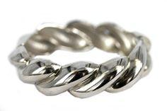 """""""Bracelet torsade argent""""-Bracelet argent torsadé"""