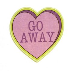 Go Away Insultation Heart Iron On Patch. $10.00, via Etsy.