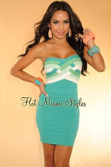 $49.99: One of the most sought after silhouettes of the season, this strapless bandage dress is key to any night out look