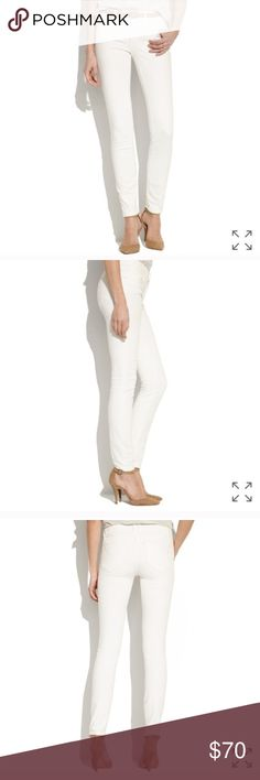 Madewell skinny skinny white jeans! Size 25 Worn a couple times, just don't fit me anymore! Like new condition. Madewell Jeans Skinny