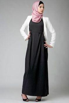 Black under-bust dress.