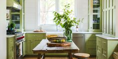look at the cabinets In the corners!  Don't Make These 11 Big Mistakes When You Paint Your Kitchen Cabinets - ELLEDecor.com