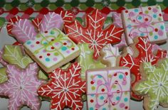 Decorated Christmas Cookies #christmas #cookies