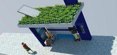 Ponto de ônibus com energia solar Com o objetivo de criar uma cidade mais gentil com seus usuários, a Associação Comercial e Industrial de Florianópolis (ACIF) acaba de anunciar um projeto inovador de ponto de ônibus ecossustentável, capaz de gerar sua própria energia. Planejado pelo Núcleo de Paisagismo da ACIF, o ponto com 9,8 m² de área, equipado com placas solares e um telhado verde, já está funcionando.