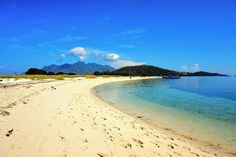 White sandy beach Pangabatang island
