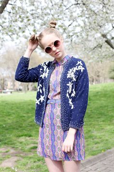 Vintage Sequin Cardigan  http://www.thewhitepepper.com/collections/new-in/products/sequin-cardigan-navy