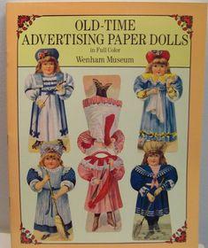 Vintage Old-Time Advertising Paper Dolls  Wenham by julesartstuff