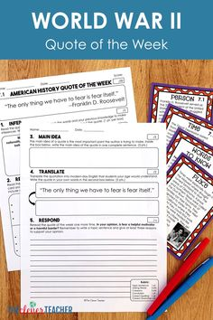 Great Depression and World War 2 - Task Cards & Literacy Strategies - History 7th Grade Social Studies, Social Studies Resources, Teaching Social Studies, Student Teaching, Literacy Strategies, Reading Strategies, Literacy Activities, World War 2 Quotes, History Quotes