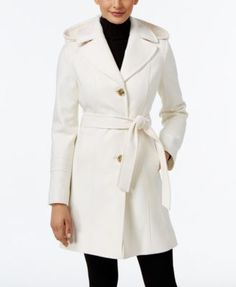 MICHAEL Michael Kors Wool-Blend Hooded Coat, Only at Macy's $191.99 Worn with or without the hood, MICHAEL Michael Kors' wool-blend walker coat is a style that speaks to timeless sophistication.