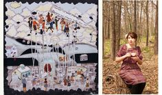 Massive Fabric #Collages and #FairyTales: An #Interview with #Toronto-based #Artist Rachael Speirs