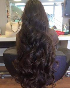 Beautiful Long Shiny Hair More 8 1 Curly Hair Cuts, Wavy Hair, Curly Hair Styles, Natural Hair Styles, Frizzy Hair, Hair Afro, World Hair, Really Long Hair, Long Dark Hair