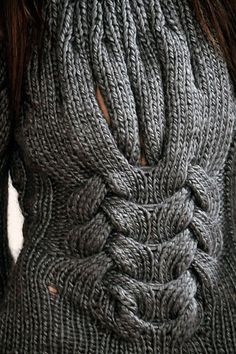 detail of knitted sweater