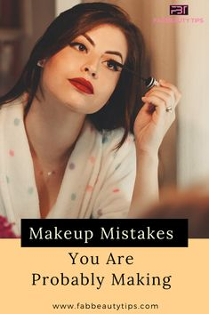 As we all love to do experiments on face but will trying new things we tend to do few makeup mistakes. To overcome these mistakes we are here to help. Beauty Tips, Beauty Hacks, Hair Beauty, Makeup Blog, Makeup Tips, Makeup Mistakes, Look Older, Makeup Yourself, Makeup Cosmetics