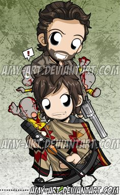 Rick and Daryl - Walking Dead Bookmark by amy-art on DeviantArt
