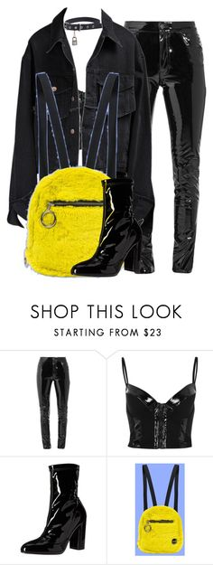 """""""Untitled #2196"""" by givenchey ❤ liked on Polyvore featuring Anthony Vaccarello, River Island, Aalto, Daya and UNIF"""