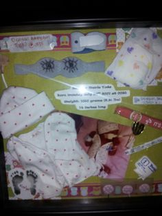 Sawyer preemie shadow box aka newborn box :)