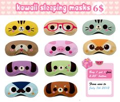 Kawaii sleeping masks 2 by tho-be on deviantART