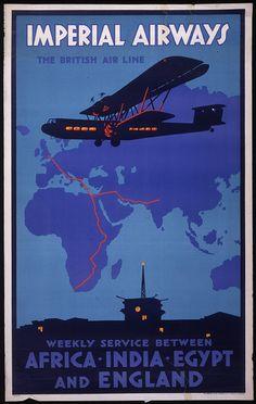 #ImperialAirways #vintage #travel #poster