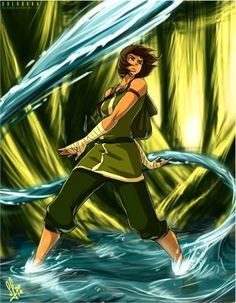 A new draw of Korra, Sorry for the time I take to make it, but with the exams of my high school I have study so much, and I haven't time to draw But fin. Korra Fighting in The Swamp Avatar Airbender, Avatar Aang, Team Avatar, Fan Art Avatar, Percy Jackson, Korrasami, Avatar World, Avatar Series, Bae