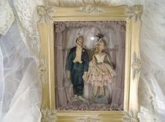 Reserved for Bijoux Odalisque Dancing Marionettes Peepshow Puppets in Shadowbox