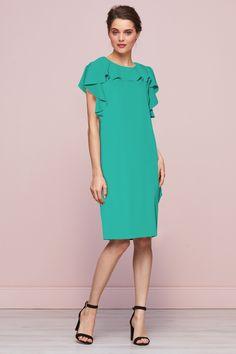 Belinda Frill Green Summer Dress Green Summer Dresses, Frill Dress, No Frills, Cold Shoulder Dress, Style, Fashion, Party Dresses, Swag, Moda