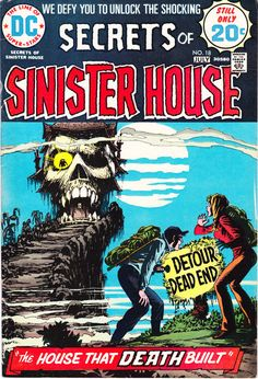 Secrets of Sinister House 18 DC Comics Death Last Issue Haunted Tales of Horror Terror Scary Creepy 1974 VF- by LifeofComics #comicbook