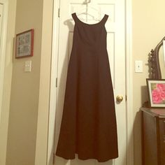 Black Formal Gown Black satin formal gown. Like new condition. Worn once. Kiki Dresses Prom