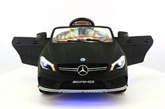 Mercedes CLA AMG 12V Power Ride on Toy Car W Remote Control Leather Seat UV Lights 2 Speeds *** Want additional info? Click on the image.