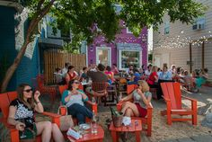 Ultimate Summer Neighborhood Hangout Spot! The Front Porch in Alexandria VA.outdoor-dining-alexandria-va-del-ray-evening-star-cafe