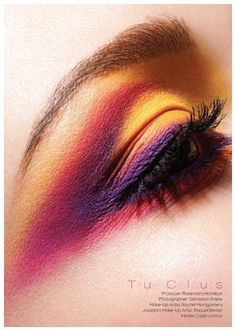 Bright Eye Shadow, I wonder if I can pull this off....