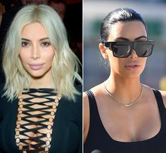 New Hair 2015: See Celebrity Hair Makeovers | InStyle.com Kim Kardashian: She broke the internet with her ice-blonde hair at Paris Fashion Week, but only a few weeks after her dramatic change, Kim returned to her natural brunette in late March.