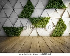 Enhancing your mental state isnt as hard as you think when you have a living wall garden or artificial vertical garden. Read here for more information. Verticle Garden Wall, Living Wall Planter, Fleur Design, Stock Image, Concrete Blocks, Concrete Wall, Concrete Garden, Terrace Garden, Plant Wall