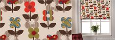 Zebedee Chocloate Patterned Roller Blinds - Wide