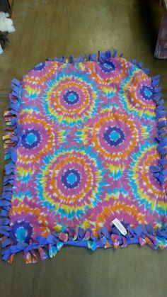 Groovy Baby TyeDye Design Fleece Throw - pinned by pin4etsy.com