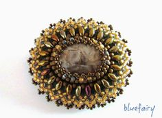 bluefairy art: Old Gold, broszka z bransoletką, one of my brooches.