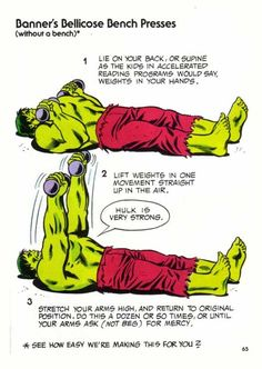 Vintage Marvel Heroes Teaching Callisthenics