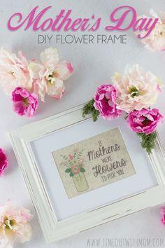 DIY Flower Frame for Mom
