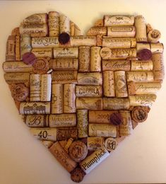 Wine Cork Heart by HawkCrafts on Etsy                                                                                                                                                                                 More