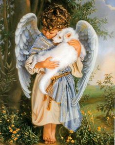 Image result for angels with animals