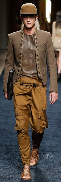 Balmain Spring 2016 Menswear..Idon`t like the pants