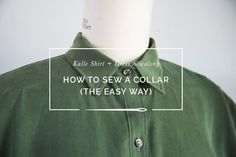 Alternative method for sewing a shirt collar