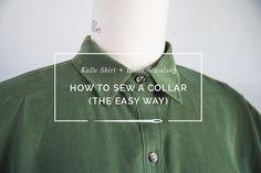 How to sew a shirt collar // Kalle Shirtdress Sewalong // Closet Case Patterns