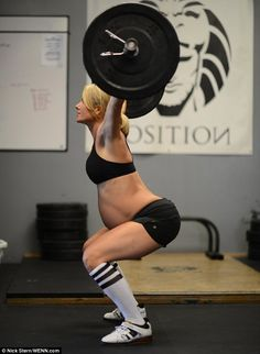 Ms Ellinson sparked controversy when photos emerged of her lifting what appear to be heavy weights while eight months pregnant