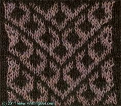 Earring 6 - Knittingfool Stitch Detail
