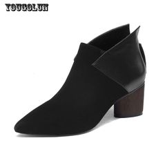 72068e5cfe803 Cheap thick heel, Buy Quality leather ankle boots directly from China ankle  boots Suppliers  YOUGOLUN Women Cow Suede Leather Ankle Boots Spring Autumn  ...