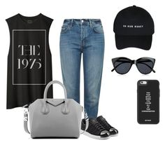 """""""S2"""" by suhfranco ❤ liked on Polyvore featuring Topshop, adidas Originals, Givenchy and Le Specs"""