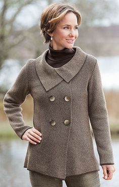 Cashmere Silk Company Ladies Cashmere Silk Double Breasted Cardigan from House of Bruar